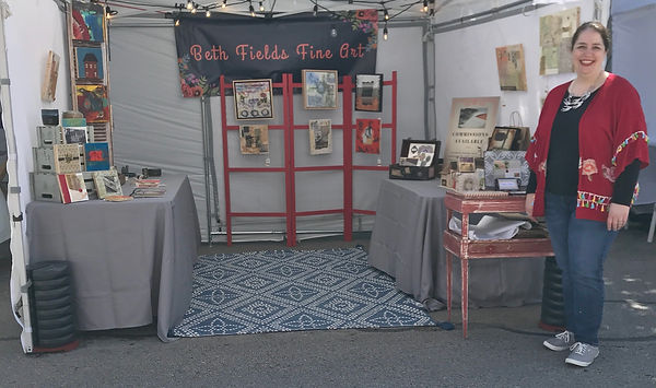 Arts in Bloom Booth