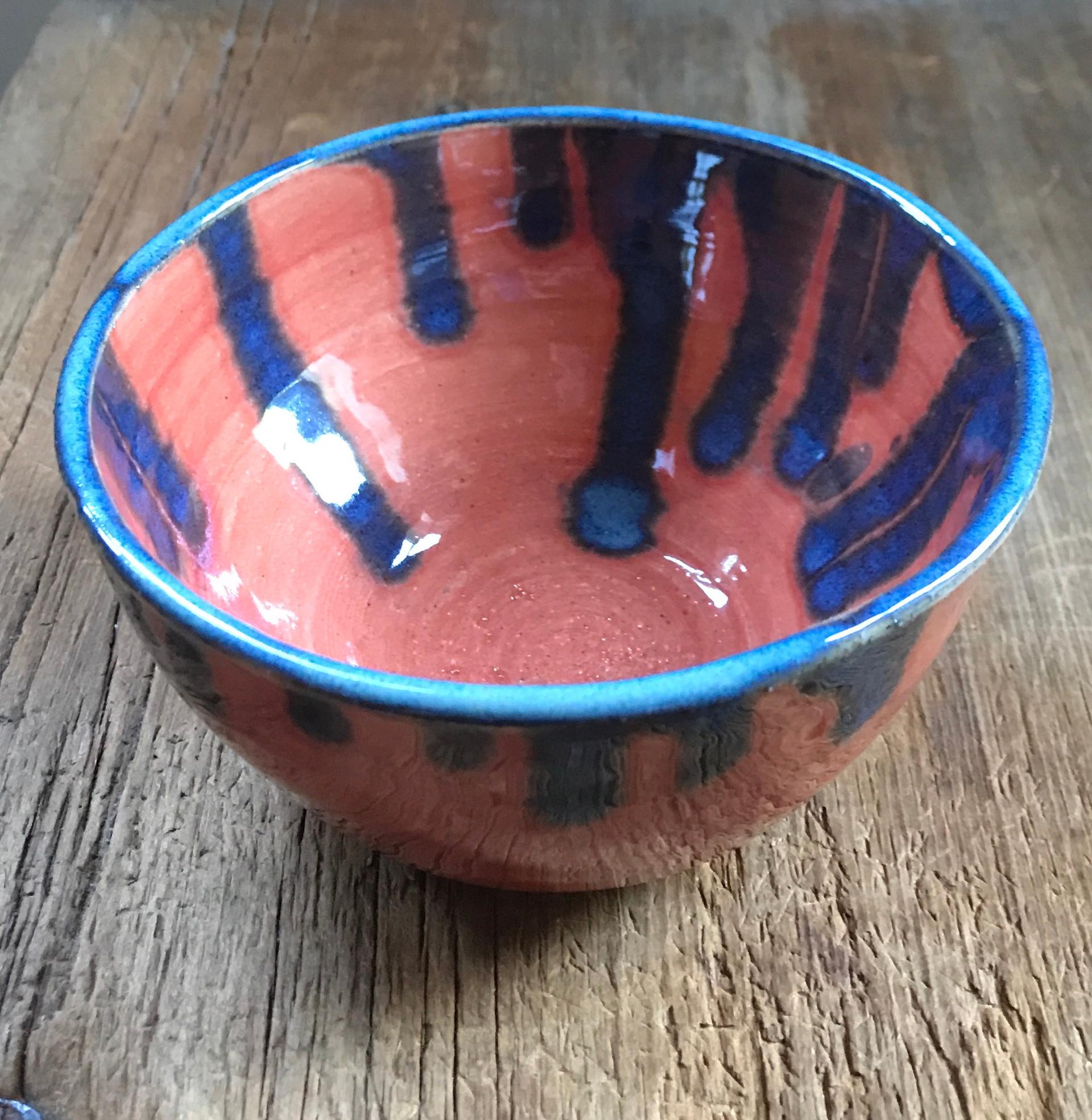 Medium Bowl Sedona Sunset Floating Blue.