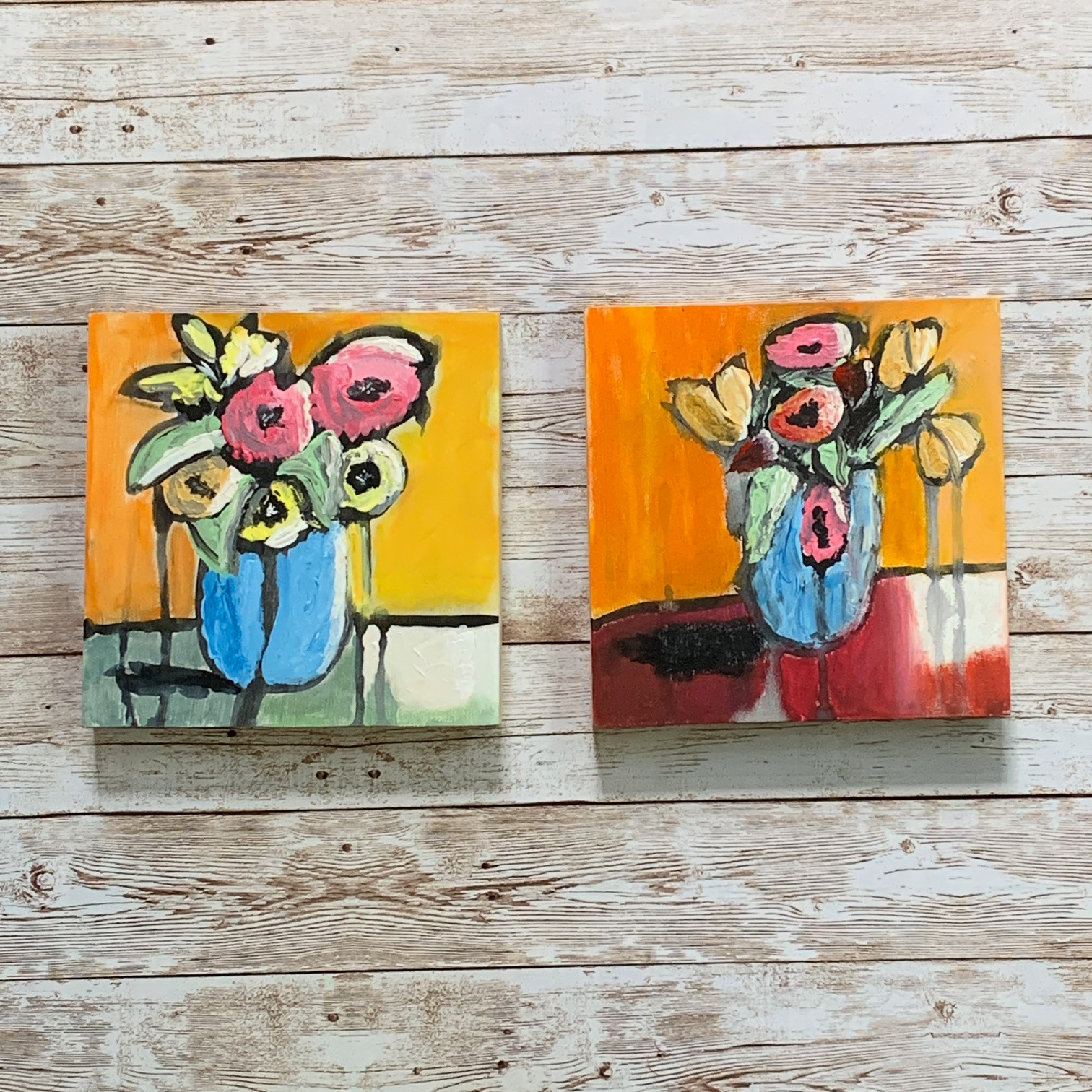 Abstract Florals 1 & 2