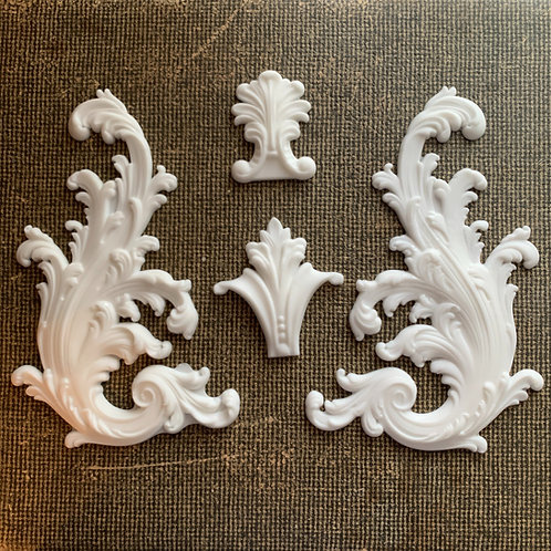 Portico Scrolls Resin Shapes