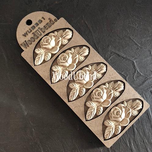 WUB0351 Pack of 5 Rose Garlands