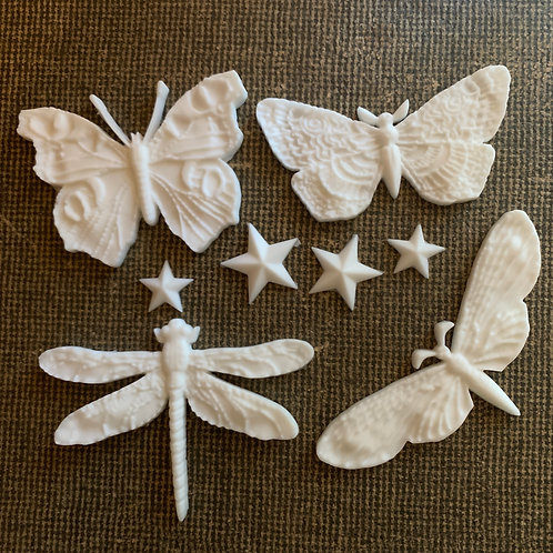 Insect and Stars Resin Shapes