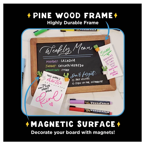 Rustic 10x14 Magnetic Double Sided Chalkboard Sign