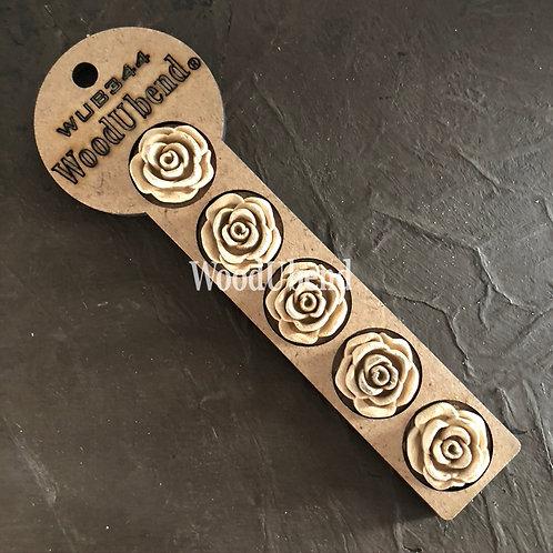 WUB0344  Pack of 5 Swirl Rose Buds