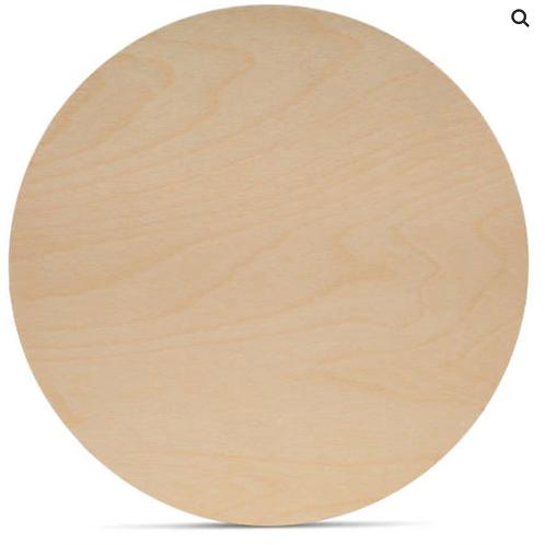 18 Inch Birch Wood Circle - 1/8 inch width (3mm)