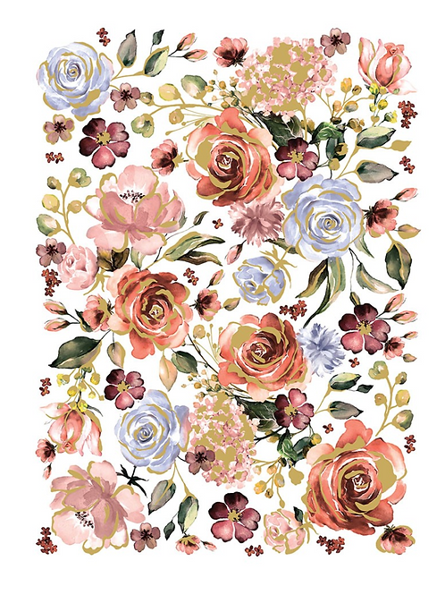REDESIGN DECOR TRANSFER- ROSE AND ROUGE