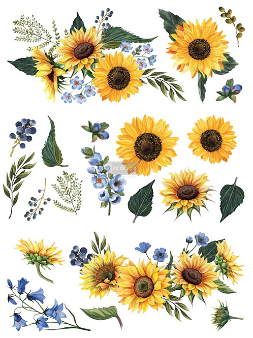 REDESIGN DECOR TRANSFER- Sunflower Fields