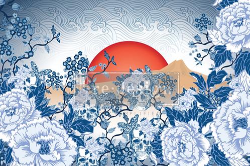 CECE SKULL CHINOISERIE DECOUPAGE PAPER – 1 SHEET, 19″X 30