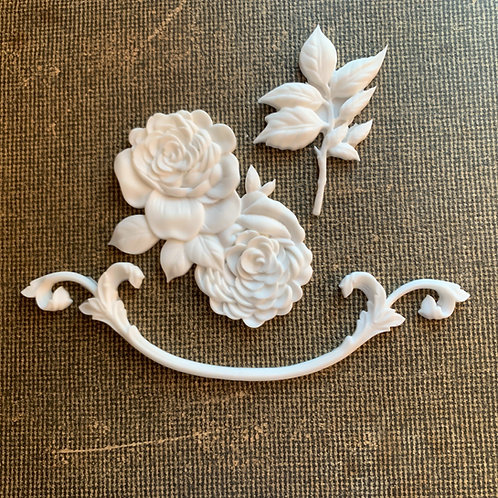 Victorian Rose Resin Shapes
