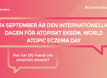 Atopikerna en del av World Atopic Eczema Day