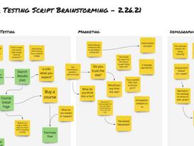 Step 1 - Test Script Brainstorming