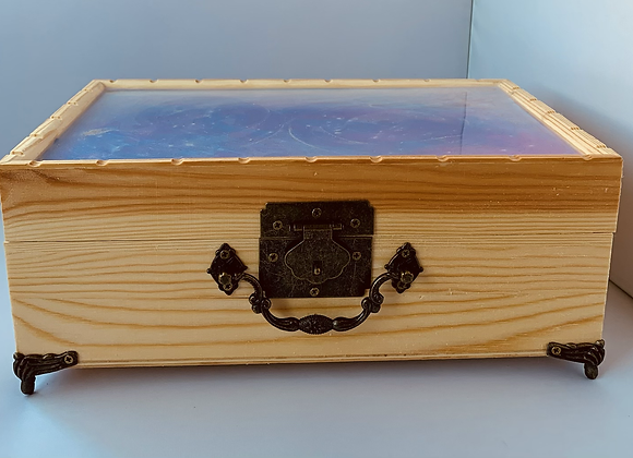 Ghost Pigment Carved  Jewlery Box