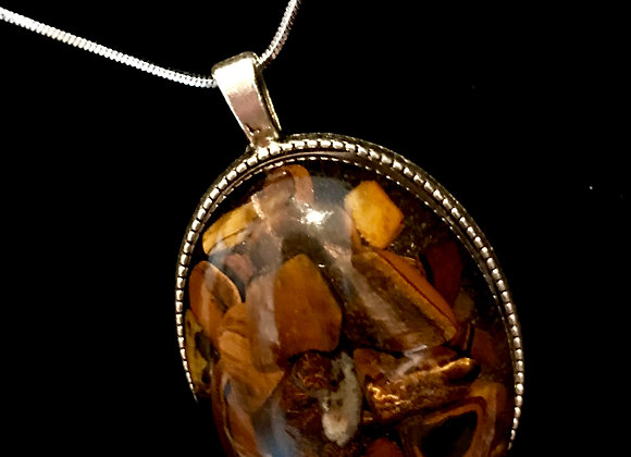 Iced Tigers Eye Necklace