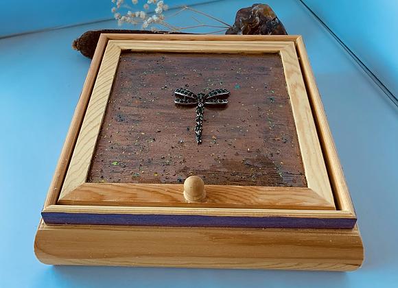 Austrian Dragon Fly Resin Wood Box