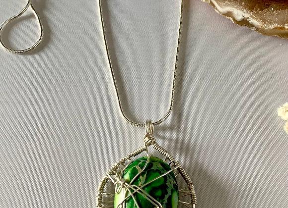 Green Ocean Jasper Necklace