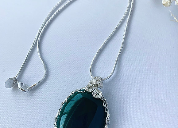 Sterling Silver Wire Wrapped Jade