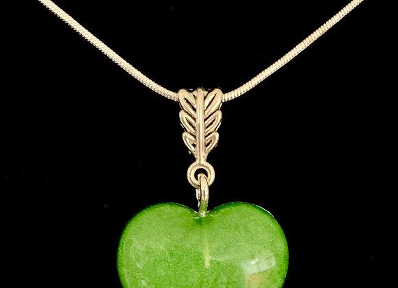 Color me Green Garden Heart Necklace