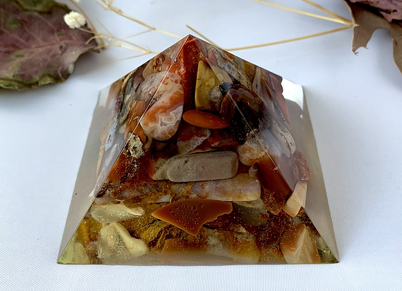 Beautiful Agate and Jasper Orgonite