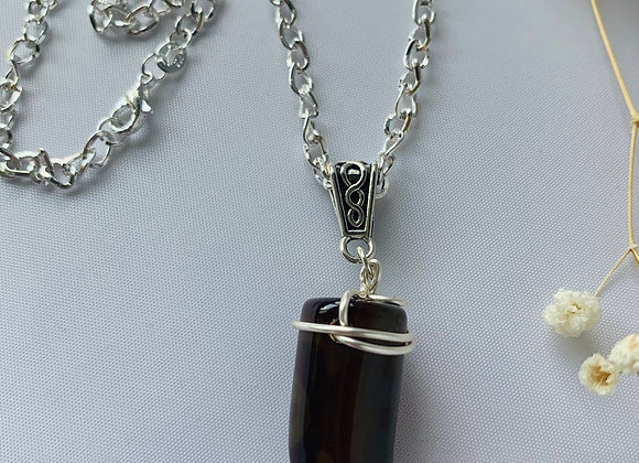 Wrapped Agate W/Sterling Silver