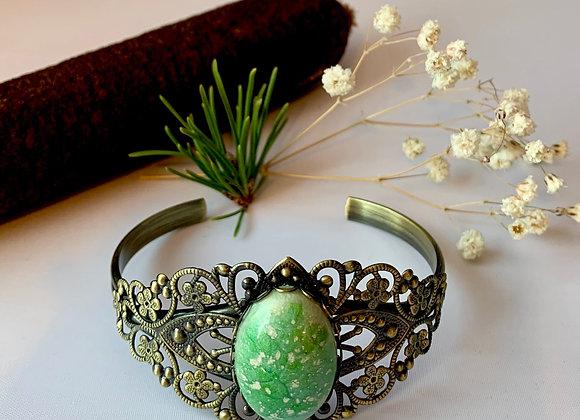 Green Venetian Goddess Bracelet