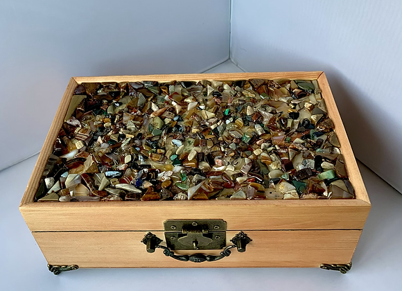 Beautiful Stone Covered Jewelry Box