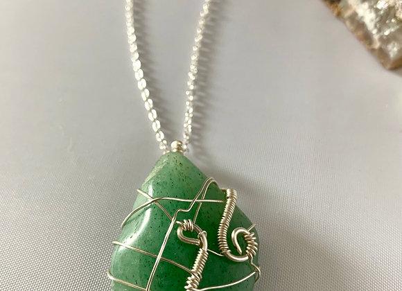 Green Aventurine Wrapped Stone