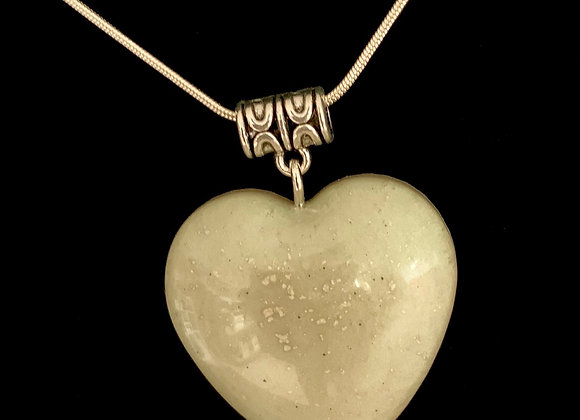 Three toned Ghost Pigment heart Necklace