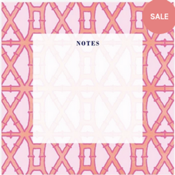 Pink Bamboo Notepad