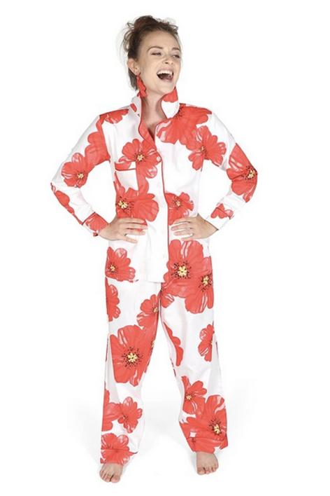 """""""Poppies on Parade"""" Full Pajama Set"""