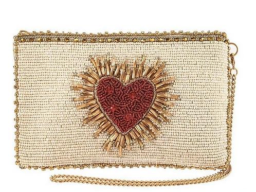 Heart Burst Beaded Bag