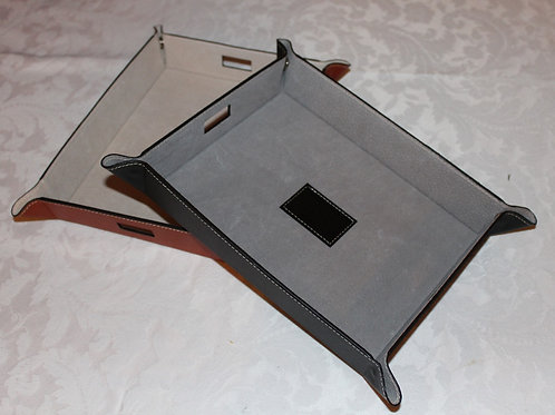 Leather Snap Trays for Miscellaneous Items