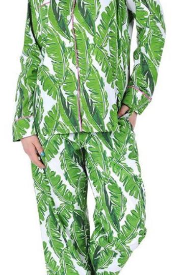Banana Leaf Cotton Poplin Pajama Set