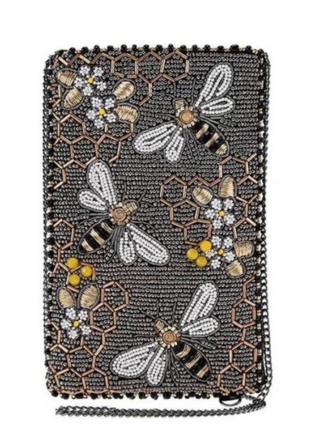 Bee Awesome Beaded Handbag