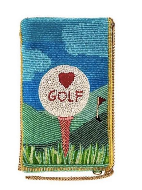 Golf Lover Beaded Bag