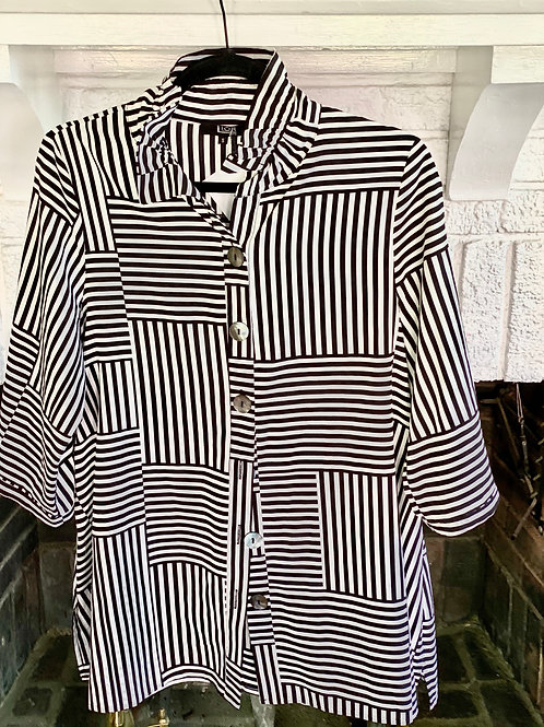 Black and White Detailed Shirt