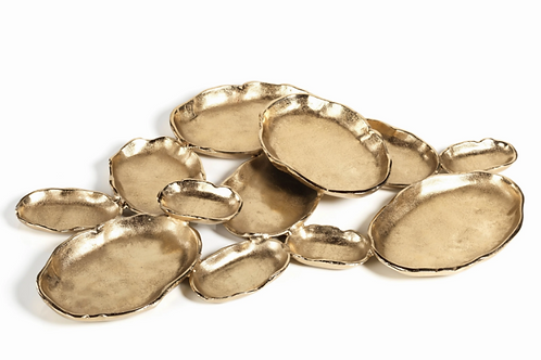 12-Tier Cluster Oval Gold Serving Piece