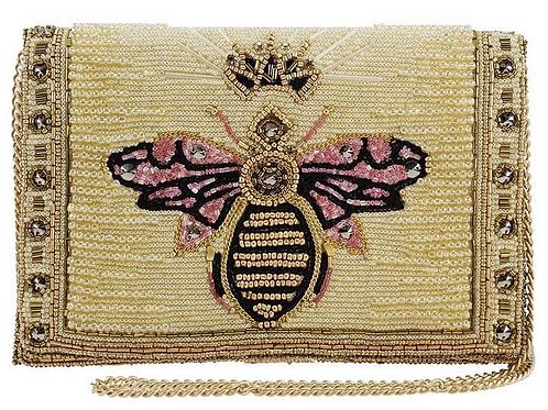 Buzzed, Beaded Queen Bee Crossbody Clutch