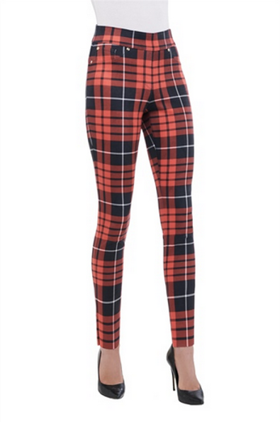 Plaid Red and Black Leggings