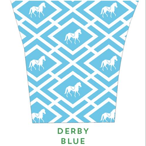 Derby Blue Candle Holder