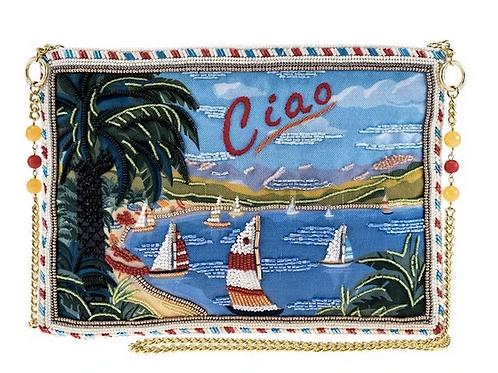 Ciao Beaded Postcard Bag
