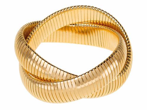 Double Gold Stack Bracelet