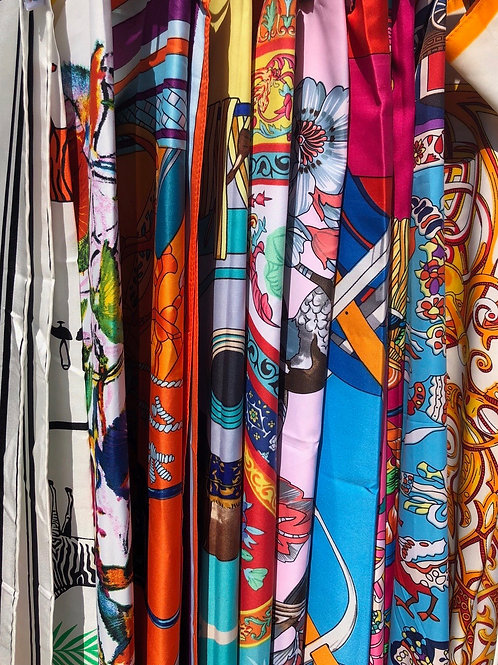 Various Decorated Scarves
