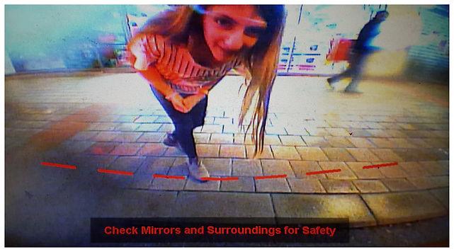 check mirrors surreal rearview car camera