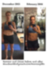 Monica Gibbs Beachbody Hammer and Chisel before and after