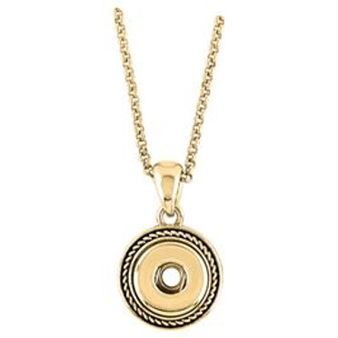 GINGER SNAPS PETITES GOLD ROPE NECKLACE