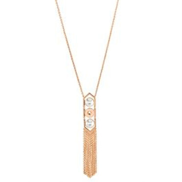 ROSE GOLD CACHE TASSEL NECKLACE
