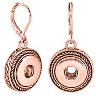 GINGER SNAPS PETITES ROSE GOLD ROPE DANGLE EARRINGS