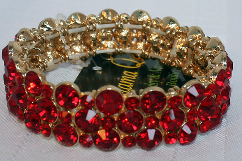Crystal Rhinestone Bubble Bracelet