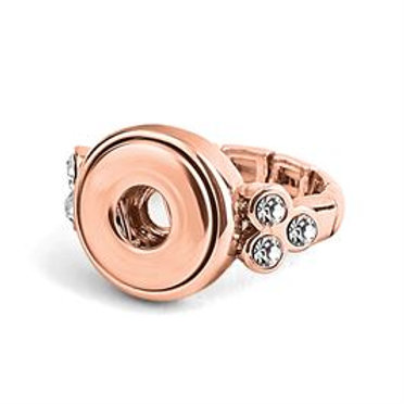 GINGER SNAPS PETITES ROSE GOLD 6 STONE STRETCH RING