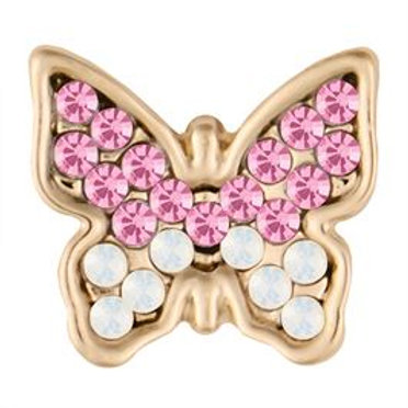 GOLD PINK BUTTERFLY